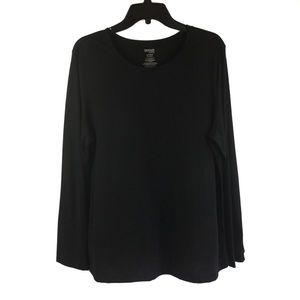 Danskin NOW   Black long sleeve Tee Shirt XXL NWOT